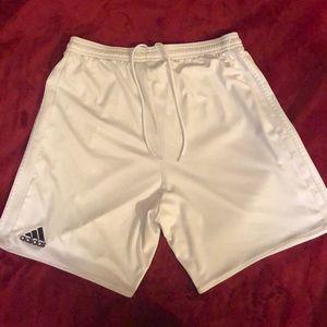 Adidas white shorts